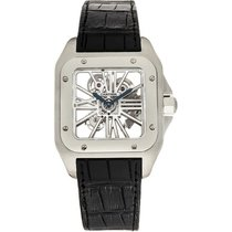 Cartier Palladium Cuerda manual Transparente Romanos 54.9mm nuevo Santos 100