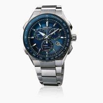 Seiko Astron GPS Solar Chronograph Titanium 46mm Blue Arabic numerals