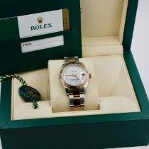Rolex Lady-Datejust Or/Acier 31mm Nacre Sans chiffres