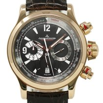 Jaeger-LeCoultre Rose gold Automatic Black 42mm pre-owned Master Compressor Chronograph