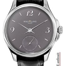 Rolf Lang Oro blanco 41/42mm Cuerda manual C.ST.SE-anthrazit nuevo