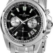 Jacques Lemans Sport Liverpool new Quartz Chronograph Watch with original box and original papers 1-1830D