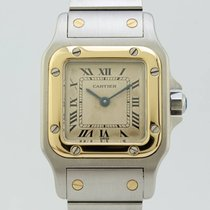 Cartier Santos Quartz Steel-Gold Lady 34970