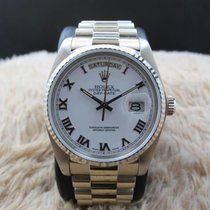 Rolex 1982 ROLEX DAY-DATE 18039 WITH ORIGINAL WHITE RAISED...