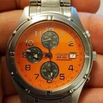Citizen Super Rare Citizen #0510-h22951 K Chronograph Orange...