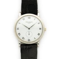 Patek Philippe White Gold Calatrava Strap Watch Ref. 3919