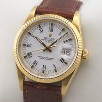 Rolex Oyster Perpetual Date Желтое золото 34mm Белый