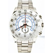 Rolex White gold Automatic White 44mm pre-owned Yacht-Master II