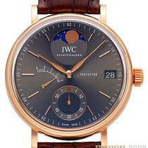 IWC Red gold Manual winding Grey No numerals 45mm new Portofino Hand-Wound