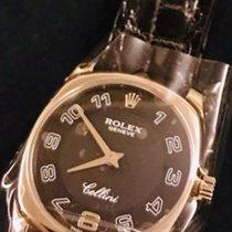 Rolex Cellini Danaos Witgoud 24mm Zwart Arabisch Nederland, Amsterdam