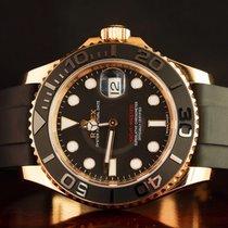 Rolex Yacht-Master 40 Oro rosado 40mm Negro Sin cifras