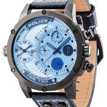 Police Stahl 50mm Quarz PL14536JSU.13A neu