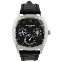 Patek Philippe pre-owned Automatic 37mm Black Sapphire Glass 3 ATM