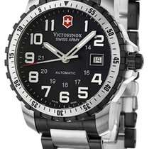Victorinox Swiss Army Alpnach Stal 41mm Czarny Arabskie