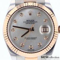 Rolex Datejust II Zlato/Zeljezo 41mm Sedef-biserast Bez brojeva