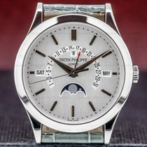Patek Philippe Perpetual Calendar Platinum 39.5mm Silver United States of America, Massachusetts, Boston