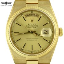 Rolex Day-Date Oysterquartz Yellow gold 36mm Champagne No numerals