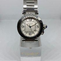 Cartier Pasha Seatimer Acero 40mm Blanco Arábigos
