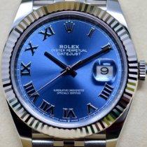 Rolex Datejust II Or/Acier 41mm Bleu