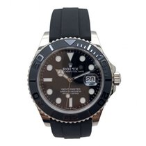 Rolex Yacht-Master 42 pre-owned 42mm Black Date White gold
