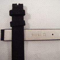 Omega NEW strap black suede 11 mm lug to 10 mm Original Omega ...