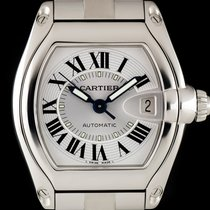 Cartier Stainless Steel Silver Dial Roadster Gents W62025V3