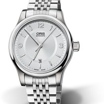 Oris CULTURA CLASSIC DATE Full Steel-Silver Dial-Arabic Numerals