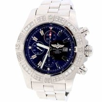 Breitling Super Avenger Chronograph 48MM Watch A13370 w/Diamon...
