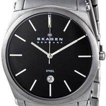 Skagen Men's 859LSXB Steel Black Dial Stainless Steel Quartz...