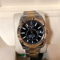 Rolex Skydweller 326933  18k Yellow Gold and Steel Black Dial