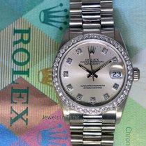 Rolex Datejust President 18k White Gold & Diamond Ladies...