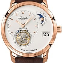 Glashütte Original PanoLunar Tourbillon Roségold 40mm Silber