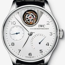 IWC Platinum Automatic Arabic numerals 44.2mm new Portuguese Tourbillon