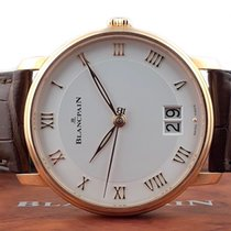 Blancpain Villeret Rose gold 40mm Silver United States of America, New Jersey, Englewood