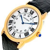 Cartier Ronde Solo de Cartier W6700455 CARTIER Ronde Quarzo Oro Giallo Pelle 36mm новые