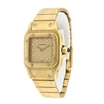 Cartier Yellow gold Automatic Gold 23mm pre-owned Santos (submodel)