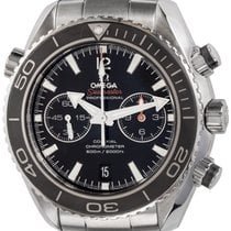 Omega Seamaster Planet Ocean Chronograph pre-owned 45mm Black Chronograph Date