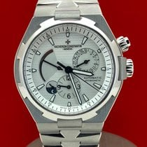 Vacheron Constantin Overseas Dual Time pre-owned Silver Date GMT Steel