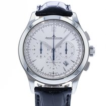 Jaeger-LeCoultre Master Chronograph pre-owned 40mm Silver Date Leather