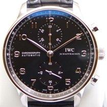 IWC Portuguese Chronograph nouveau 2020 Remontage automatique Montre avec coffret d'origine et papiers d'origine IW371447