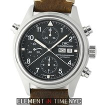IWC Pilot Double Chronograph Steel 42mm Black Arabic numerals United States of America, New York, New York