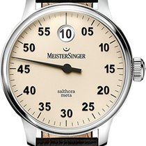 Meistersinger Salthora Meta SAM903 - MEISTERSINGER  SINGLE HAND WATCH, BROWN STRAP 2020 new