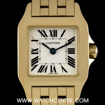 Cartier 18k Yellow Gold Silver Roman Dial Demoiselle Ladies...