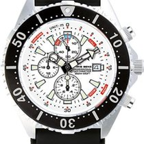 Chris Benz Depthmeter Chronograph 300m CB-C300-W-KBS Herrenchr...