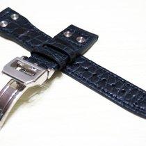 萬國 New 22/18mm IWC Crocodile Leather Strap Replacement Band