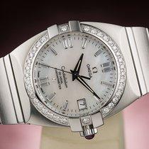 Omega CONSTELLATION DOUBLE EAGLE CHRONOMETER DIAMONDS LADY LADIES