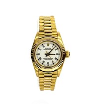 Rolex 67198 Gelbgold 1990 Oyster Perpetual 26mm gebraucht