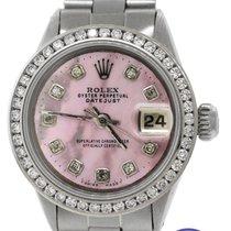 Rolex Ladies Rolex DateJust 6516 26mm Pink MOP Diamond...