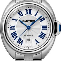 Cartier Clé de Cartier Steel 31mm Silver Roman numerals United States of America, New York, New York