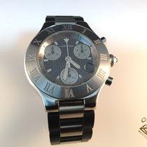 Cartier usados Cuarzo 38mm Negro Cristal de zafiro 10 ATM